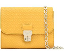 Embossed Patent-leather Shoulder Bag Saffron Size --