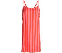 Striped crepe de chine chemise