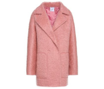 Double-breasted Mohair-blend Coat Baby Pink