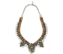 Crystal and satin necklace