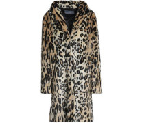 Leopard-print Faux Fur Coat Animal Print