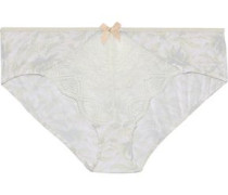 Palmitas Lace-paneled Printed Stretch-modal Low-rise Briefs Multicolor