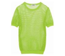 Cotton-mesh sweater