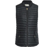 Quilted Shell Down Vest Black