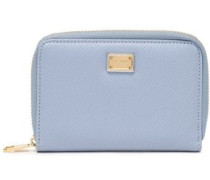 Textured-leather Wallet Light Blue Size --