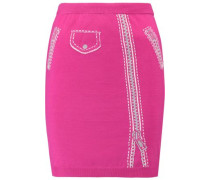 Metallic-intarsia wool mini skirt
