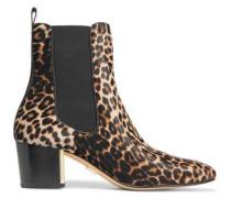 Yvette leopard-print calf hair ankle boots