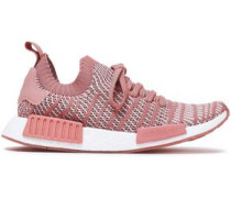 Nmd R1 Stretch-knit Sneakers Antique Rose