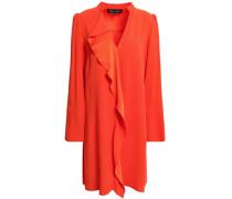 Draped Satin-crepe Mini Dress Bright Orange