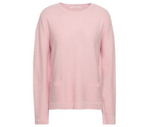 Ribbed Wool And Cashmere-blend Sweater Baby Pink