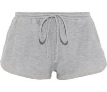 Gabriela The Runner French Cotton-terry Pajama Shorts Light Gray