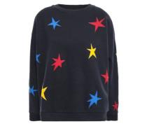 Appliquéd Cotton-fleece Sweatshirt Midnight Blue