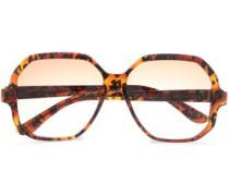Square-frame Acetate Sunglasses Brown Size --