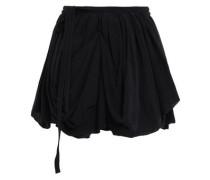 Georgia Silk-georgette Mini Wrap Skirt Black