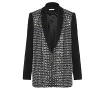Jace Crystal-embellished Crepe Jacket Black