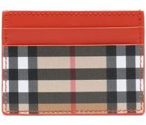 Checked Leather Cardholder Papaya Size --