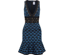 Katrin ring-embellished jacquard-knit bandage dress