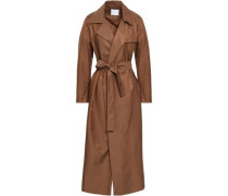 Belted Twill Trench Coat Chocolate