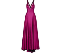 Monroe stretch-silk satin gown