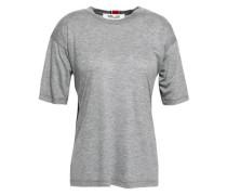 Tie-back Slub Tencel-jersey T-shirt Gray