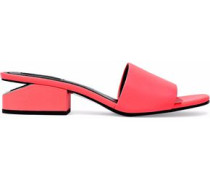 Lou neon leather mules