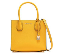 Pebbled-leather Shoulder Bag Yellow Size --
