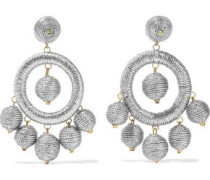 Silver And Gold-tone Cord Earrings Silver Size --