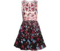 Flared Embellished Silk-blend Tulle Mini Dress Pink