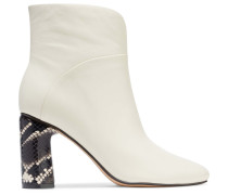 Beatrice Snake-effect And Smooth Leather Ankle Boots