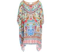 Miranda's Diary Crystal-embellished Printed Silk Kaftan Multicolor Size ONESIZE