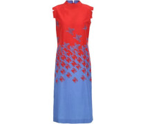 Printed Cotton And Silk-blend Dress Red
