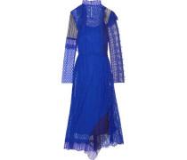 Patchwork lace midi dress