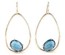 Rock Candy 18-karat Gold Topaz Earrings Blue Size --