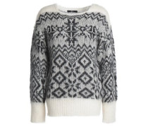 Jacquard-knit mohair-blend sweater