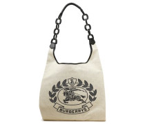 Printed Canvas Tote Beige Size --