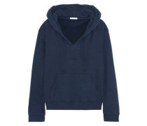 French cotton-terry hooded pajama top