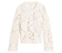Cotton-blend guipure lace sweater