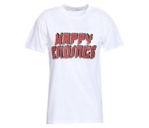 Harway Printed Cotton-jersey T-shirt White