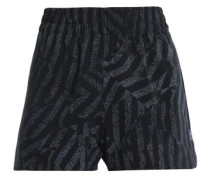 Printed Stretch Shorts Black