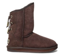 Dita Lace-up Shearling Boots Chocolate
