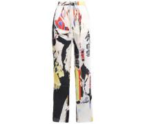 Satin-twill Straight-leg Pants Multicolor