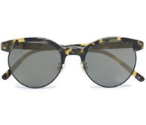 D-frame Acetate And Gold-tone Sunglasses Black Size --
