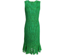 Fluted corded lace dress