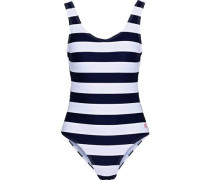 Striped Swimsuit Navy