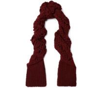 Crocheted merino wool scarf