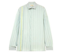 Embroidered Crepe De Chine Shirt Mint