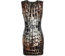 Sequined Tulle Mini Dress Black