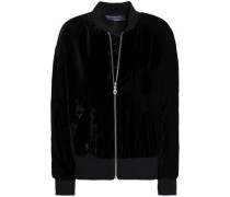 Velvet Bomber Jacket Black
