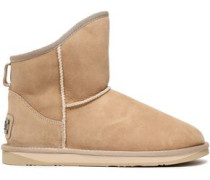 Woman Shearling Ankle Boots Beige