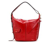 Glossed-leather Shoulder Bag Red Size --